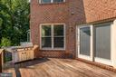 Deck with Grill - 1910 ARMAND CT, FALLS CHURCH
