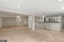 Spacious Lower Level Rec Room with Bar - 1910 ARMAND CT, FALLS CHURCH