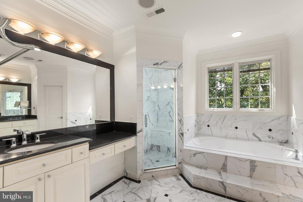 Primary Bath with Dual Sinks & Vanities - 1910 ARMAND CT, FALLS CHURCH