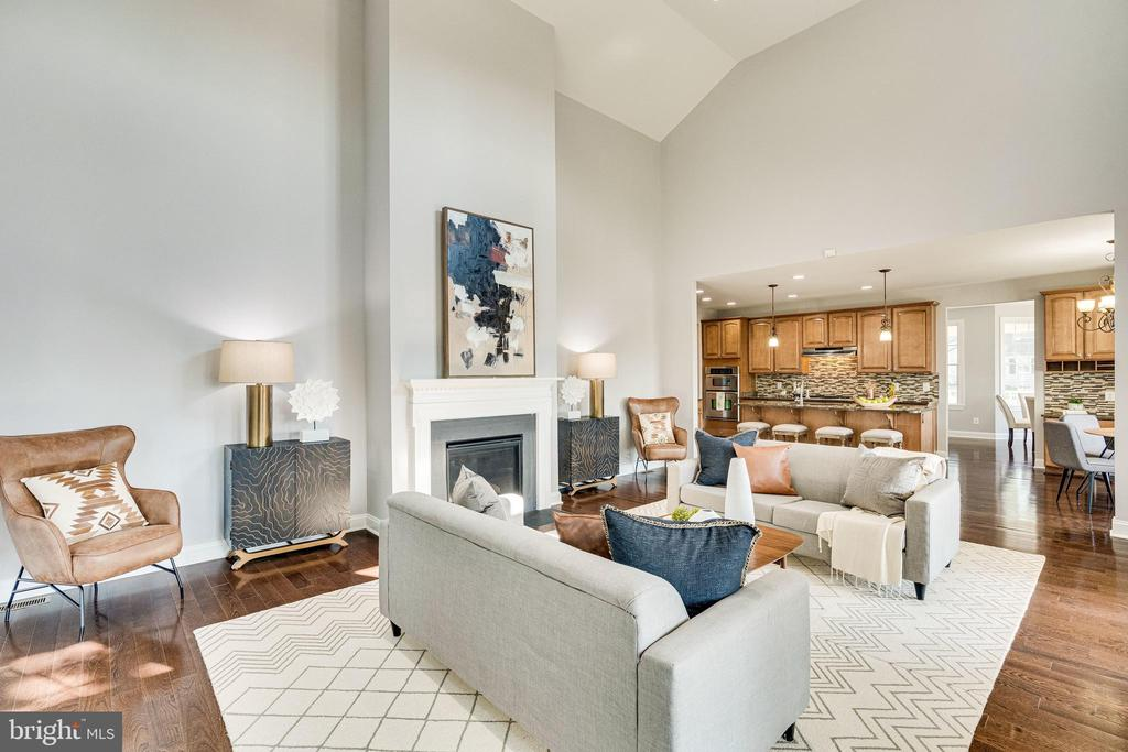 Great Room with Gas Fireplace - 1822 ANDERSON RD, FALLS CHURCH