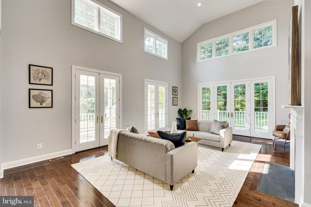 French doors lead to the wrap around deck - 1822 ANDERSON RD, FALLS CHURCH