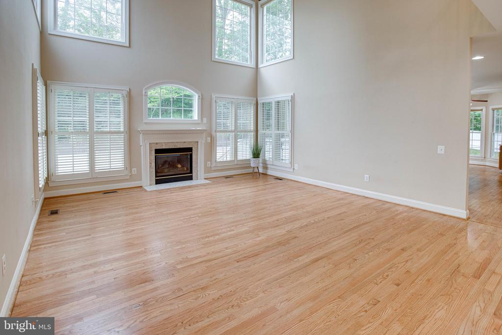 Grand Living room with vaulted ceilings - 4525 MOSSER MILL CT, WOODBRIDGE