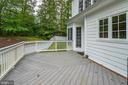 relaxing deck great space for private BBQ's - 4525 MOSSER MILL CT, WOODBRIDGE