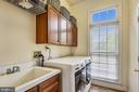 Laundry room with cabinets and utility sink - 19186 CHARANDY DR, LEESBURG