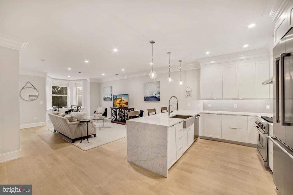 Open Kitchen Living Room - 1918 11TH ST NW #B, WASHINGTON