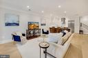 Living Room Wide Plank Floors Throughout - 1918 11TH ST NW #B, WASHINGTON