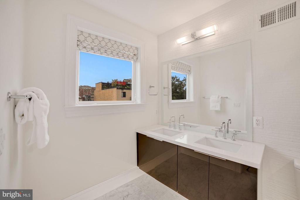 Bath #2 - Dual Sink Vanity - 8 inch Spread Faucets - 1918 11TH ST NW #B, WASHINGTON