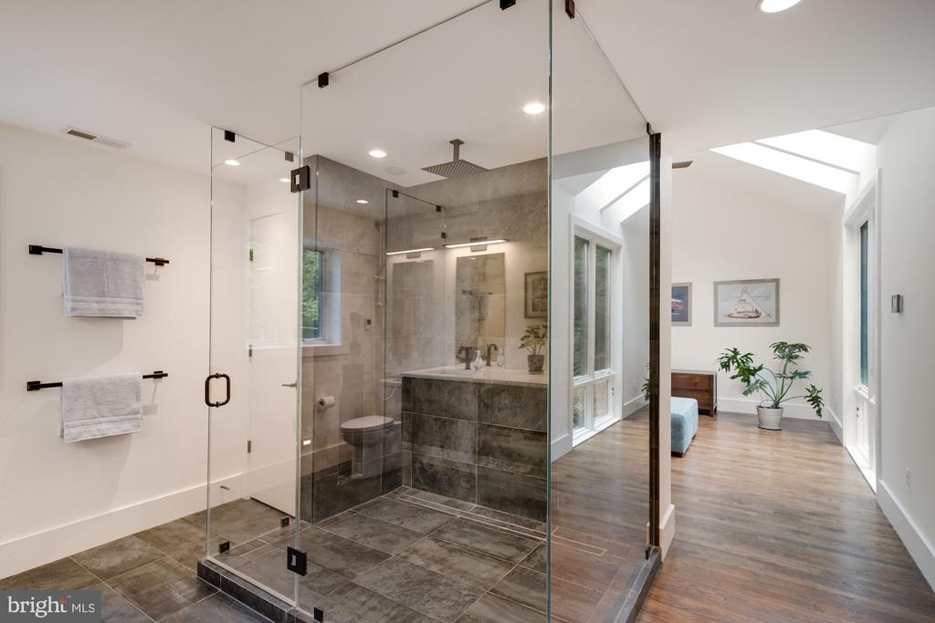 Primary Bath Walk-In Shower with Glass Surround - 6649 VAN WINKLE DR, FALLS CHURCH