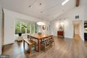 Vaulted Ceiling with Wood Beam - 6649 VAN WINKLE DR, FALLS CHURCH