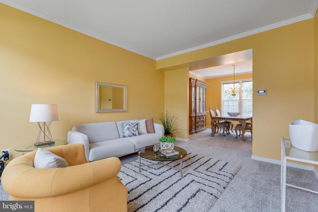 Living Room Open to Dining Room Area - 7617 STRATFIELD LN, LAUREL