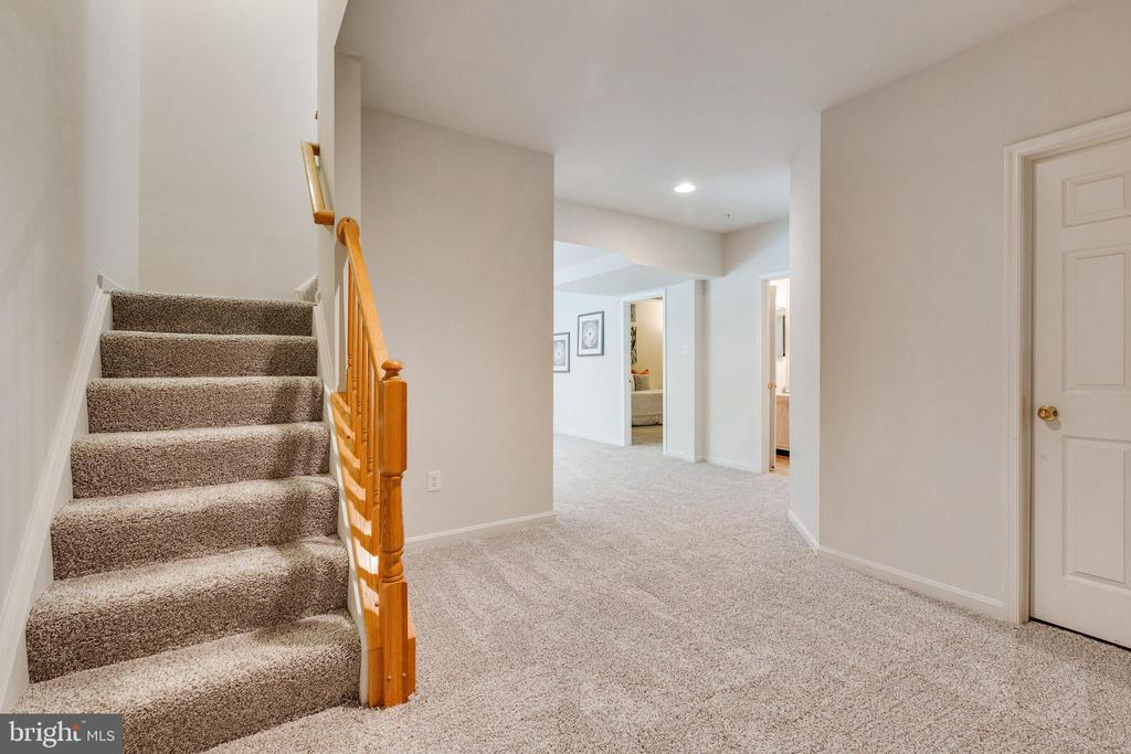Lower Level Staircase into Lower Level - 7617 STRATFIELD LN, LAUREL