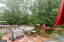 LARGE deck off living room - 7157 LAKE COVE DR, ALEXANDRIA