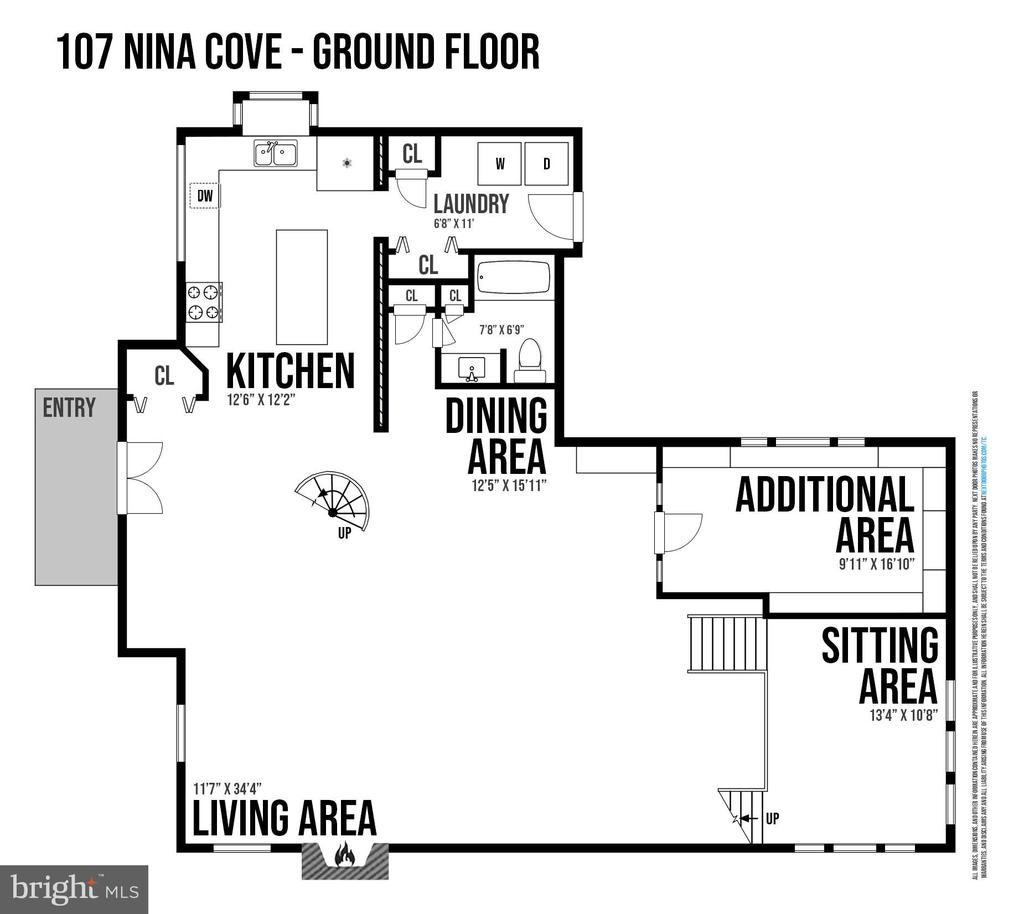 Main Level Floor Plan - 107 NINA CV, STAFFORD