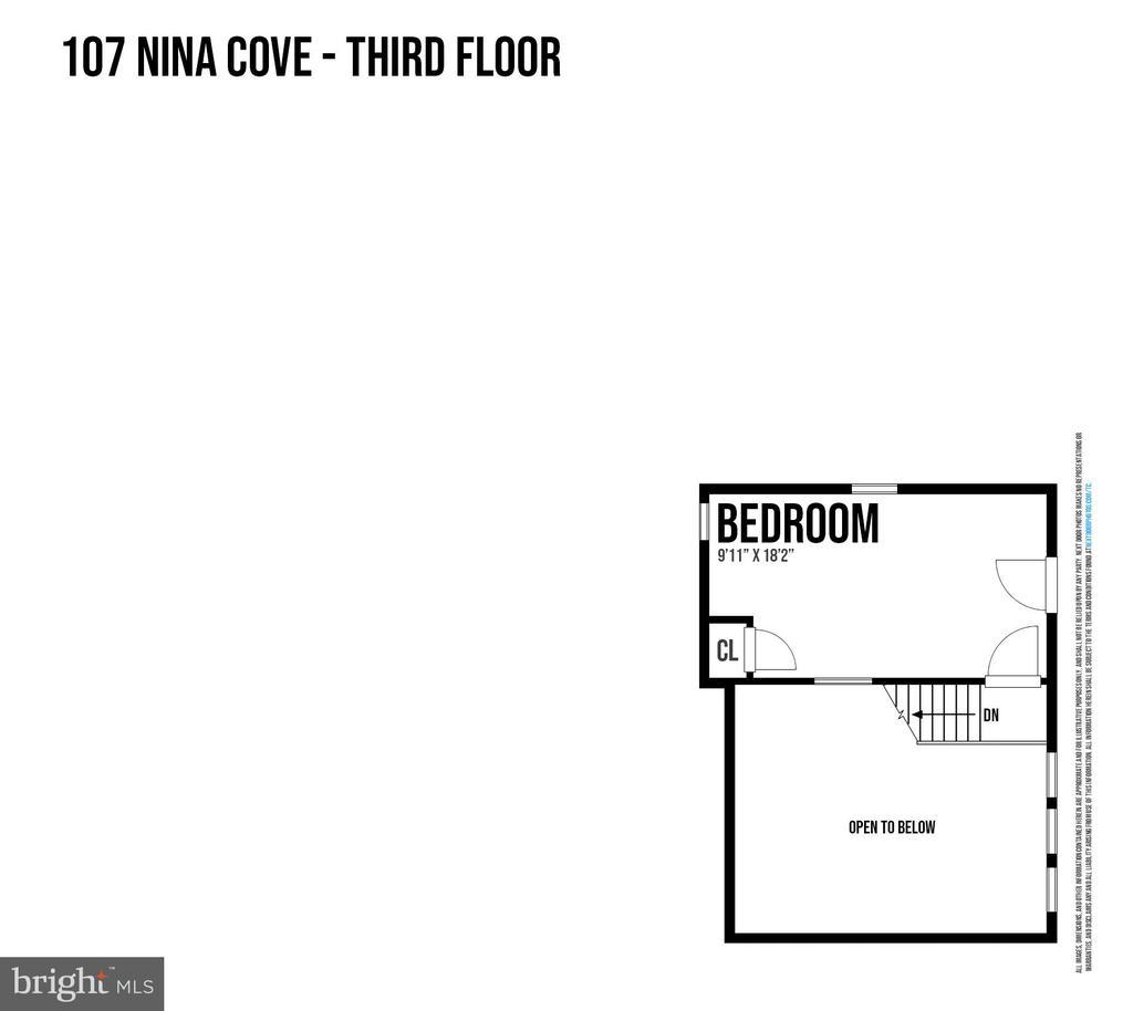 Third Level Floor Plan - 107 NINA CV, STAFFORD