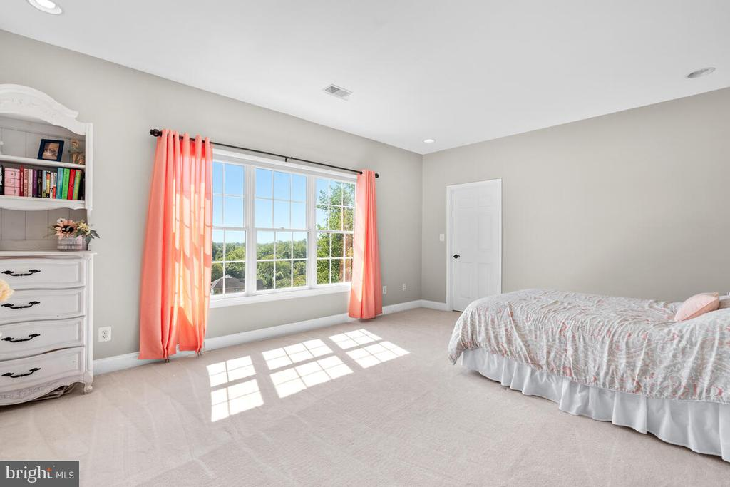 Second bedroom with beautiful views. - 17566 TOBERMORY PL, LEESBURG