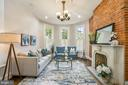 Formal Living Room w/ Original Chandelier - 402 U ST NW, WASHINGTON