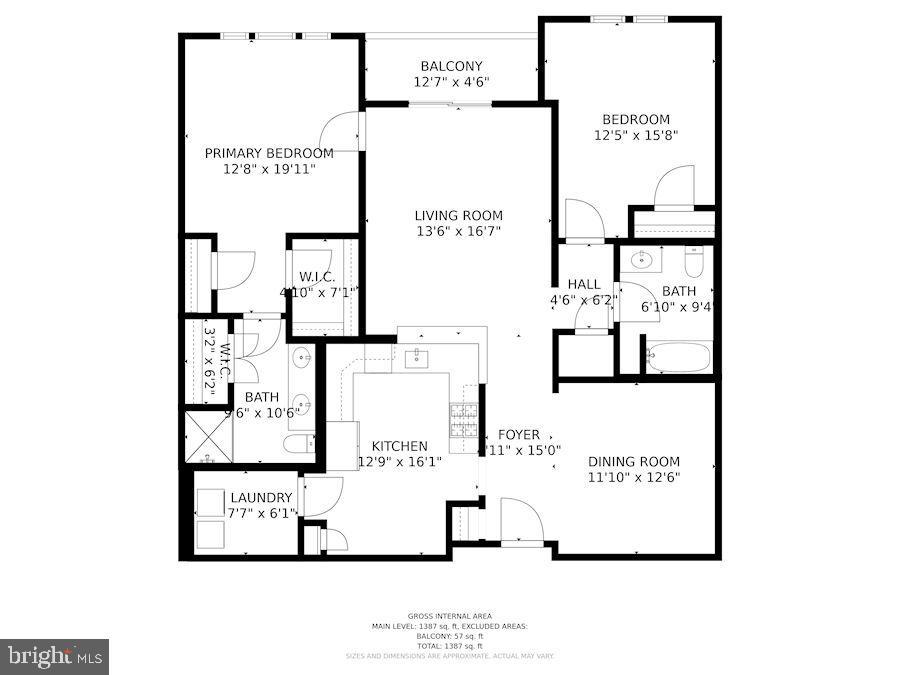 Floor Plan of Home - 20505 LITTLE CREEK TER #302, ASHBURN