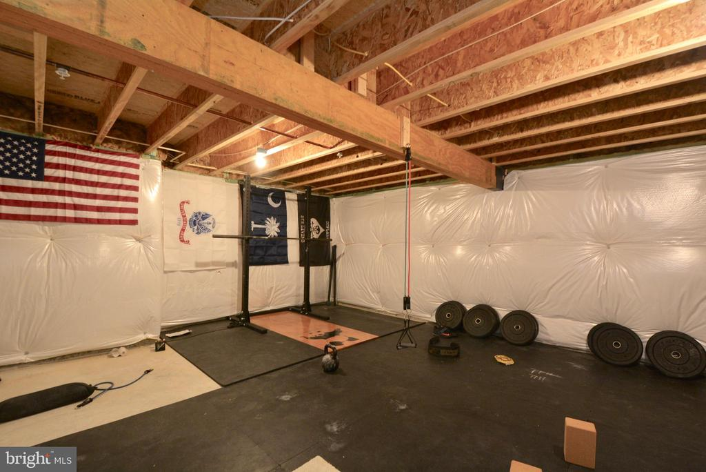 Exercise Room/Unfinished portion of basement - 2713 COCKSPUR LN, DUMFRIES