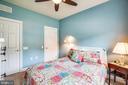 Bedroom has walk-in closet w/custom organizers! - 238 LONG POINT DR, FREDERICKSBURG
