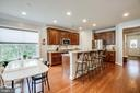 Expansive island seating plus dining area! - 238 LONG POINT DR, FREDERICKSBURG