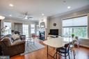 Dining area opens to great room! - 238 LONG POINT DR, FREDERICKSBURG