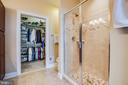 Upgraded tile! Custom closet shelving/organization - 238 LONG POINT DR, FREDERICKSBURG