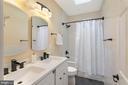Primary Bathroom with Double Vanity - 1609 LEVIS ST NE, WASHINGTON