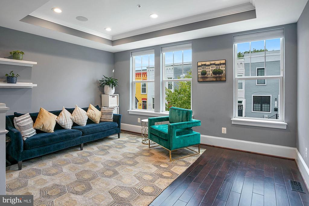 Bright Living Room with Recessed Lighting - 1609 LEVIS ST NE, WASHINGTON
