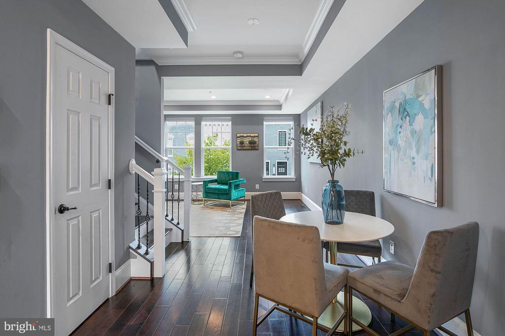 Dining Area Into Living Room - 1609 LEVIS ST NE, WASHINGTON