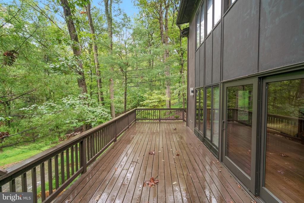 Deck Overlooking Backyard - 7335 DANCE HALL RD, FREDERICK