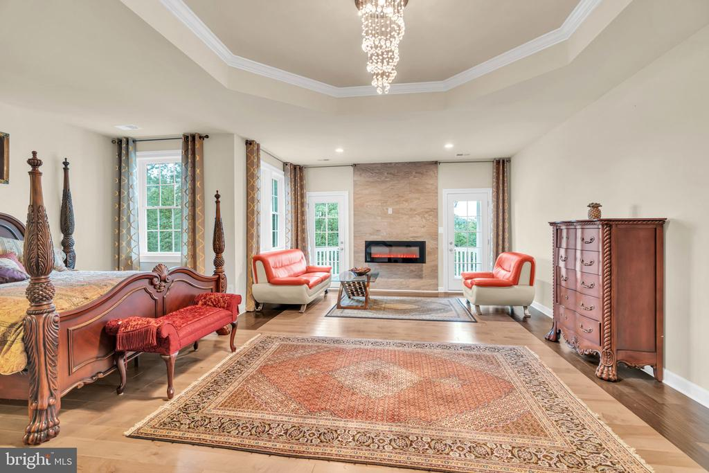 Master BR w/Sitting Room w/Accent Tiled Wall w/FP - 41219 TRAMINETTE CT, ASHBURN