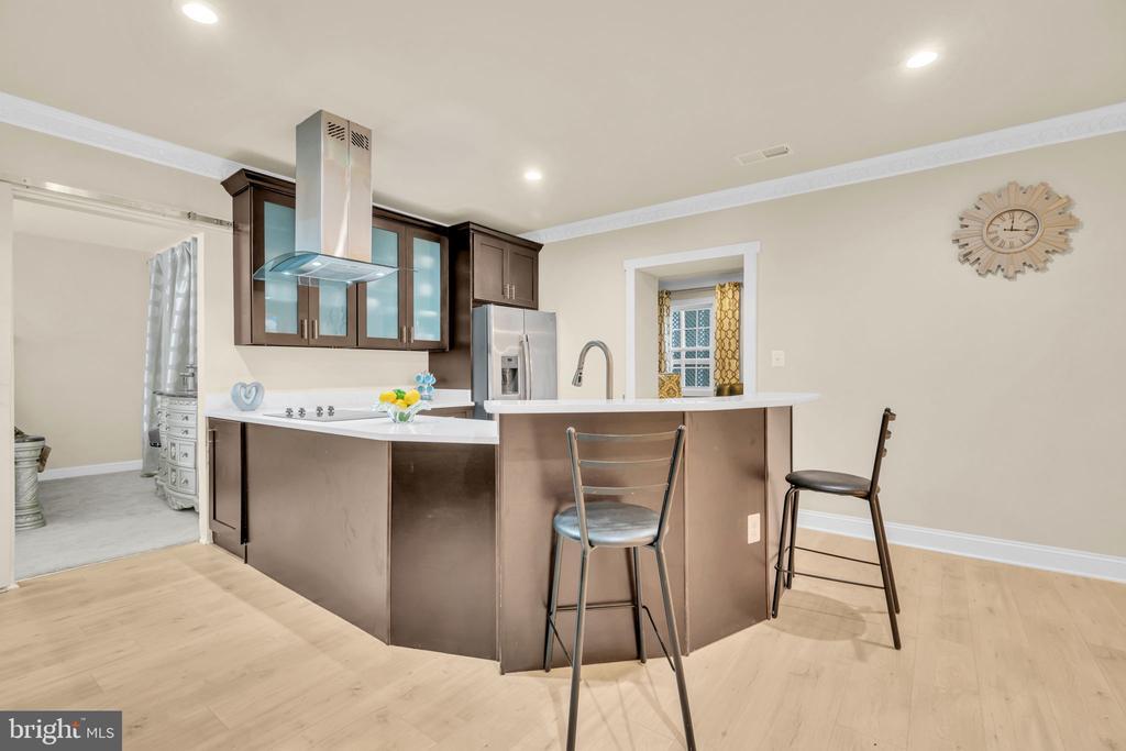 Basement Full Kitchen/Wet Bar w/Electric Cooktop - 41219 TRAMINETTE CT, ASHBURN