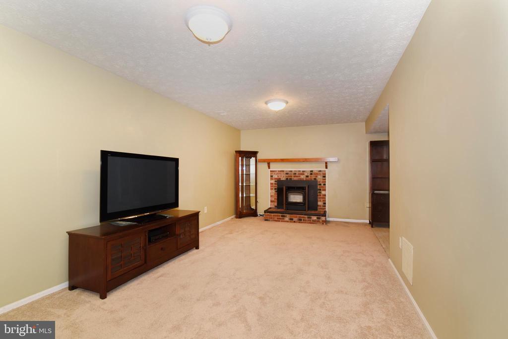 Lower level rec room with pellet stove - 12818 FANTASIA DR, HERNDON
