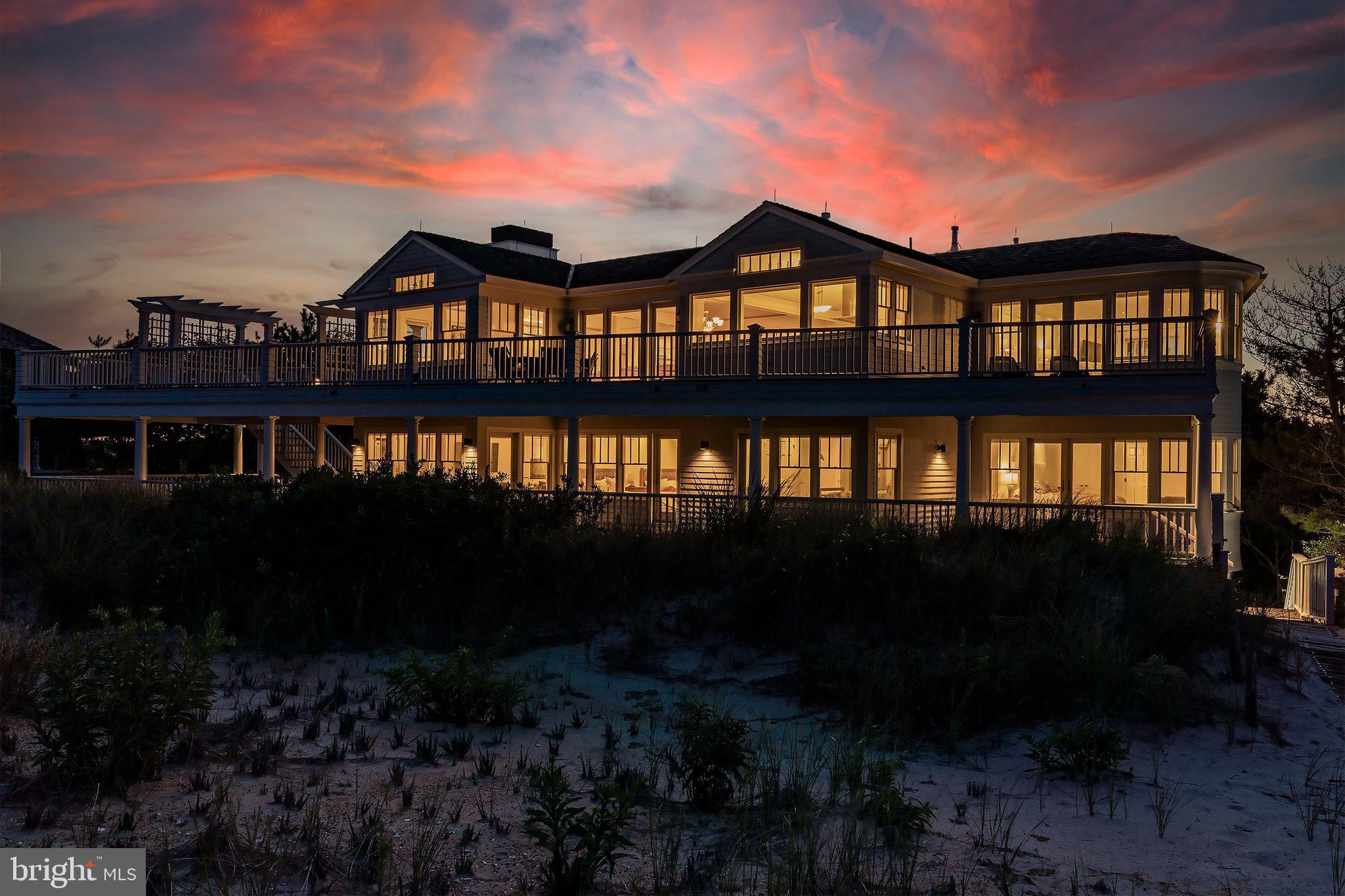 Main House Oceanfront Night Shot