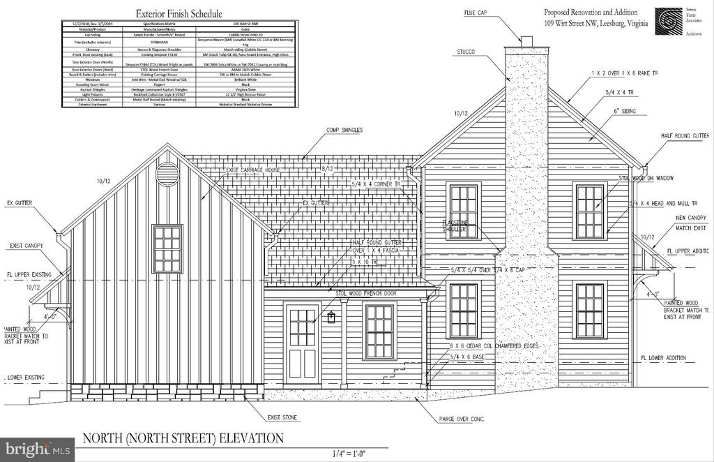Additional Architectural Rendering whole house - 109 WIRT ST NW, LEESBURG