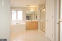 Primary bathroom separate soaking tub and shower - 8599 EASTERN MORNING RUN, LAUREL