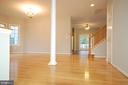 Gleaming hardwood floor on main floor - 8599 EASTERN MORNING RUN, LAUREL
