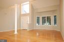 Living room with bay window and vaulted ceiling - 8599 EASTERN MORNING RUN, LAUREL