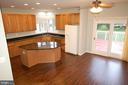 Huge kitchen w brand new luxury vinyl plank (LVP) - 8599 EASTERN MORNING RUN, LAUREL