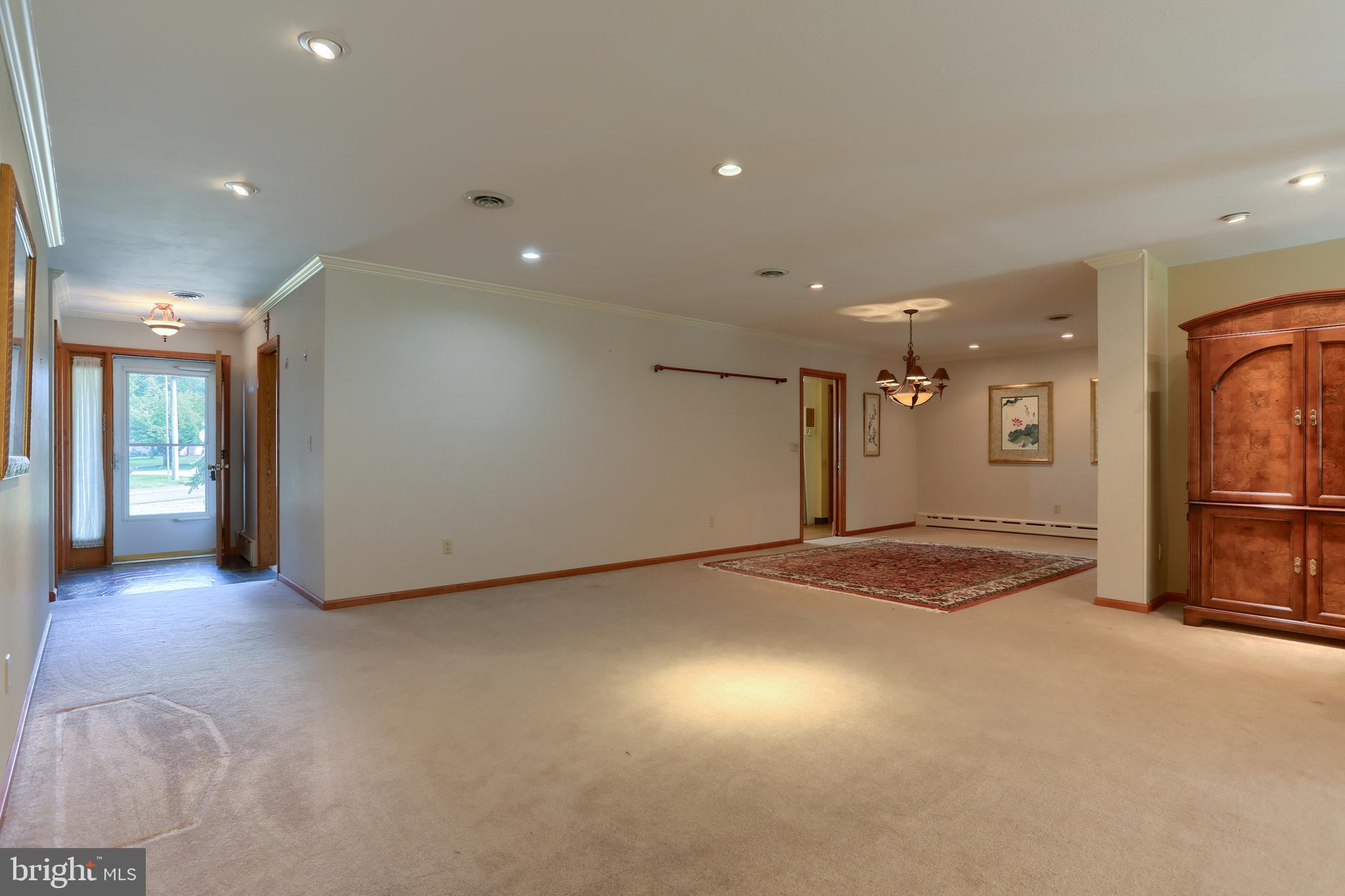 Entry and dining room.