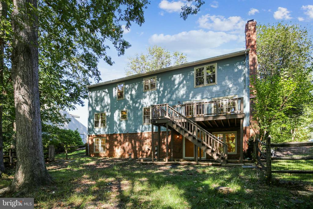 The rear view shows the size of this home - 11955 GREY SQUIRREL LN, RESTON