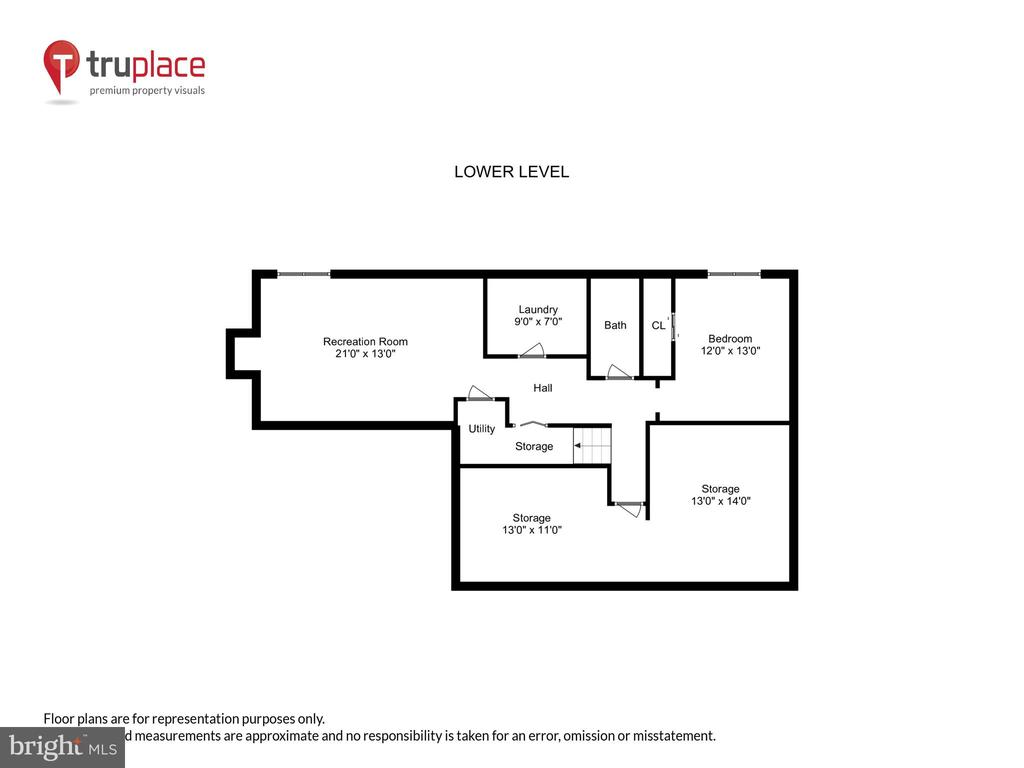 Lower level floor plan - 11955 GREY SQUIRREL LN, RESTON