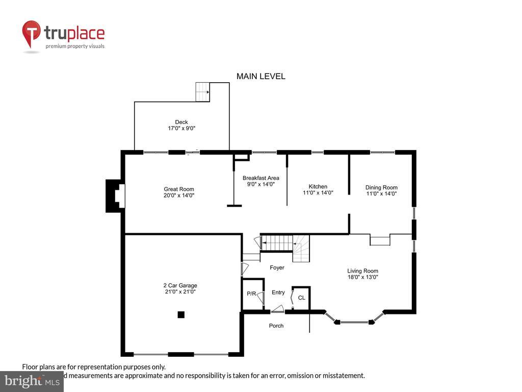 Main Level floor plan - 11955 GREY SQUIRREL LN, RESTON