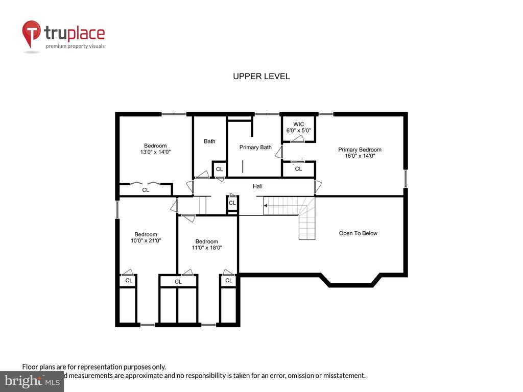 Upper level floor plan - 11955 GREY SQUIRREL LN, RESTON