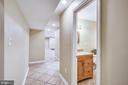 Bathroom between 5 the bedroom and Rec room - 11955 GREY SQUIRREL LN, RESTON
