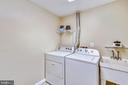 Washer, dryer and wash tub in laundry room - 11955 GREY SQUIRREL LN, RESTON