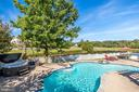 Fantastic view from the backyard overlooking pond - 43400 BLANTYRE CT, ASHBURN