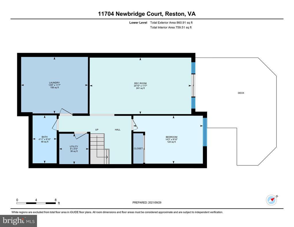 Lower Level Floor Plan - 11704 NEWBRIDGE CT, RESTON