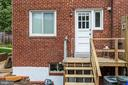 Back of home and back porch - 3112 S FOX ST, ARLINGTON