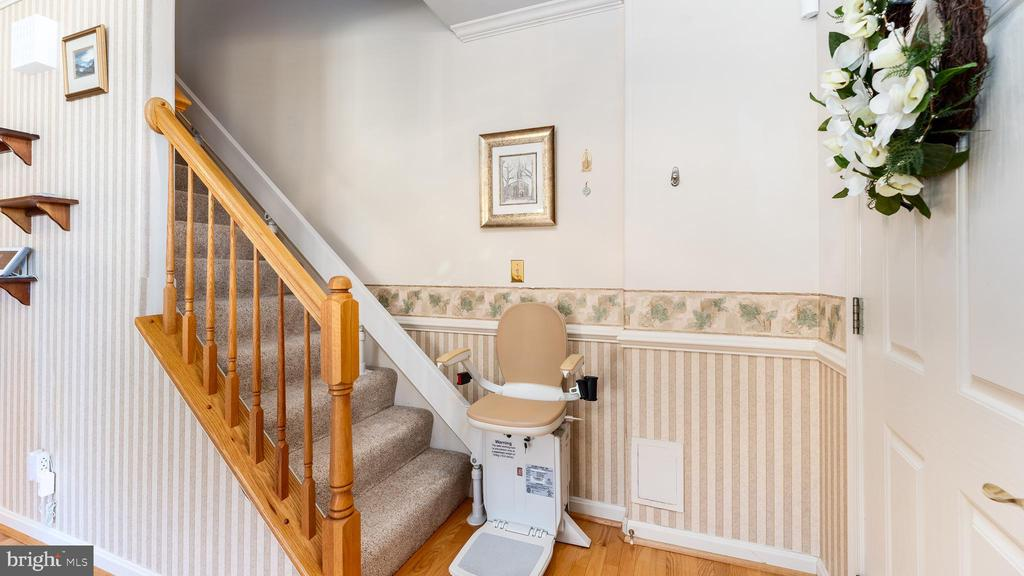 Seller will convey or remove chair lift - 9835 PLAZA VIEW WAY, FREDERICKSBURG